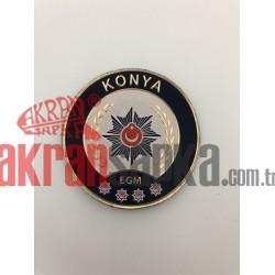 KONYA POLİS ARMASI 3D